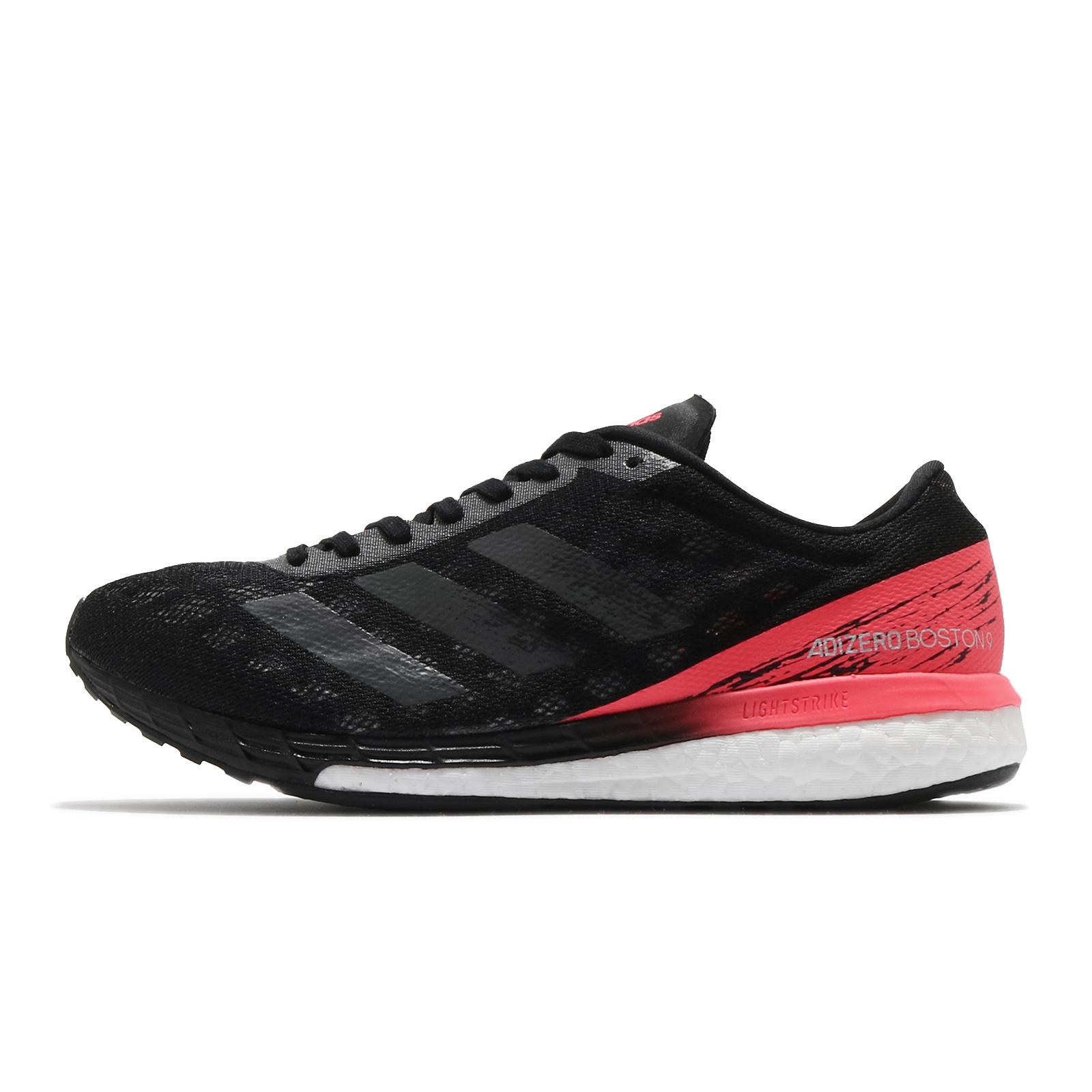 adidas 慢跑鞋 Adizero Boston 9 黑 粉紅 女鞋 愛迪達 Boost 【ACS】 EG4656