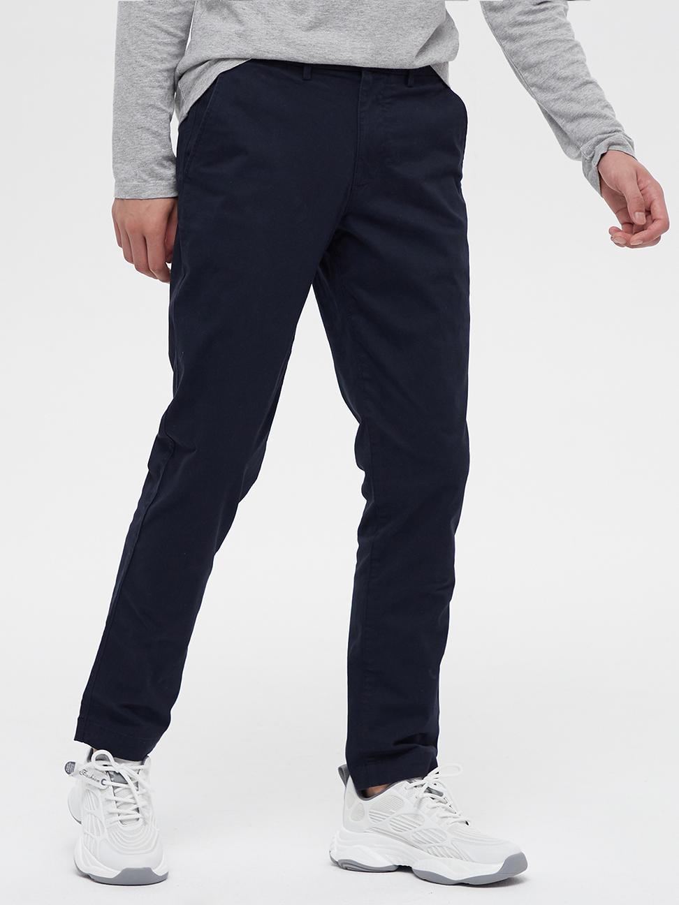 男裝 棉質微彈修身款休閒褲