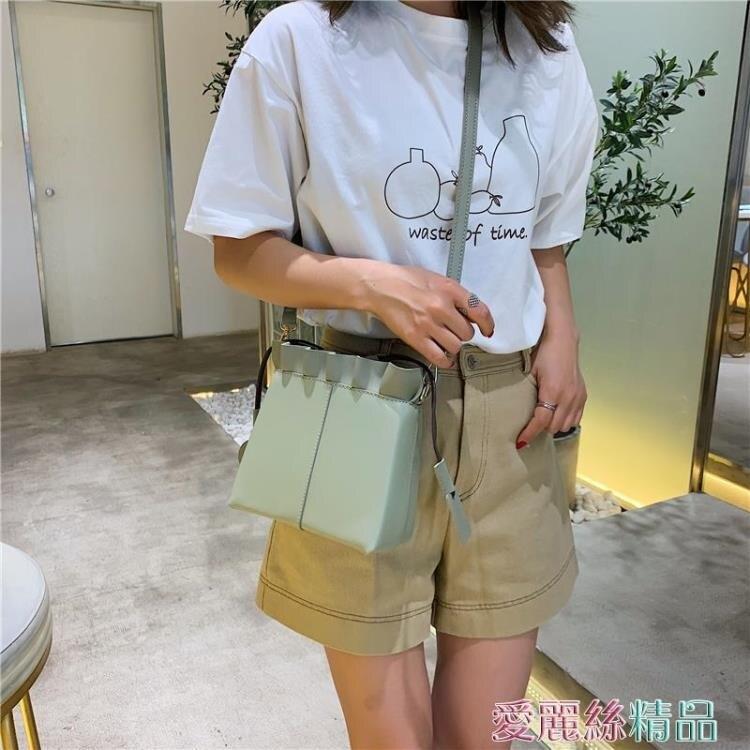 側背包法國小眾包包女洋氣2020韓版百搭側背斜背時尚休閒簡約水桶包