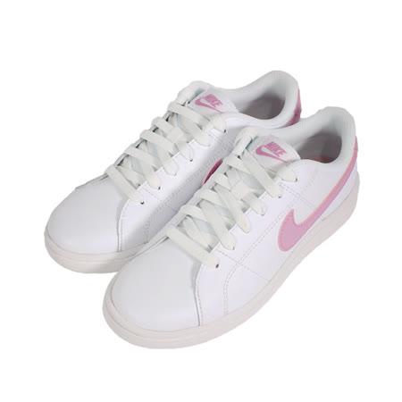 NIKE 女 WMNS NIKE COURT ROYALE 2 皮革經典復古鞋 白粉 - CU9038101