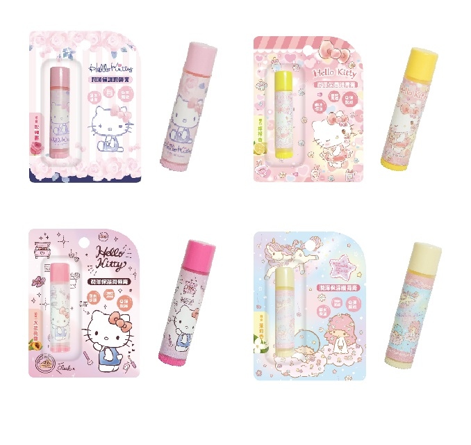 Hello Kitty 雙子星 三麗鷗 護唇膏 水蜜桃/玫瑰/檸檬/茉莉 台灣製造 正版授權