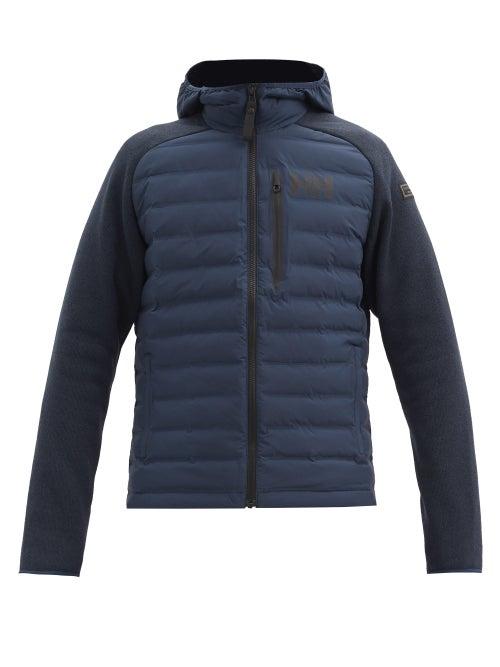 Helly Hansen - Arctic Ocean Knitted-sleeve Padded Jacket - Mens - Navy