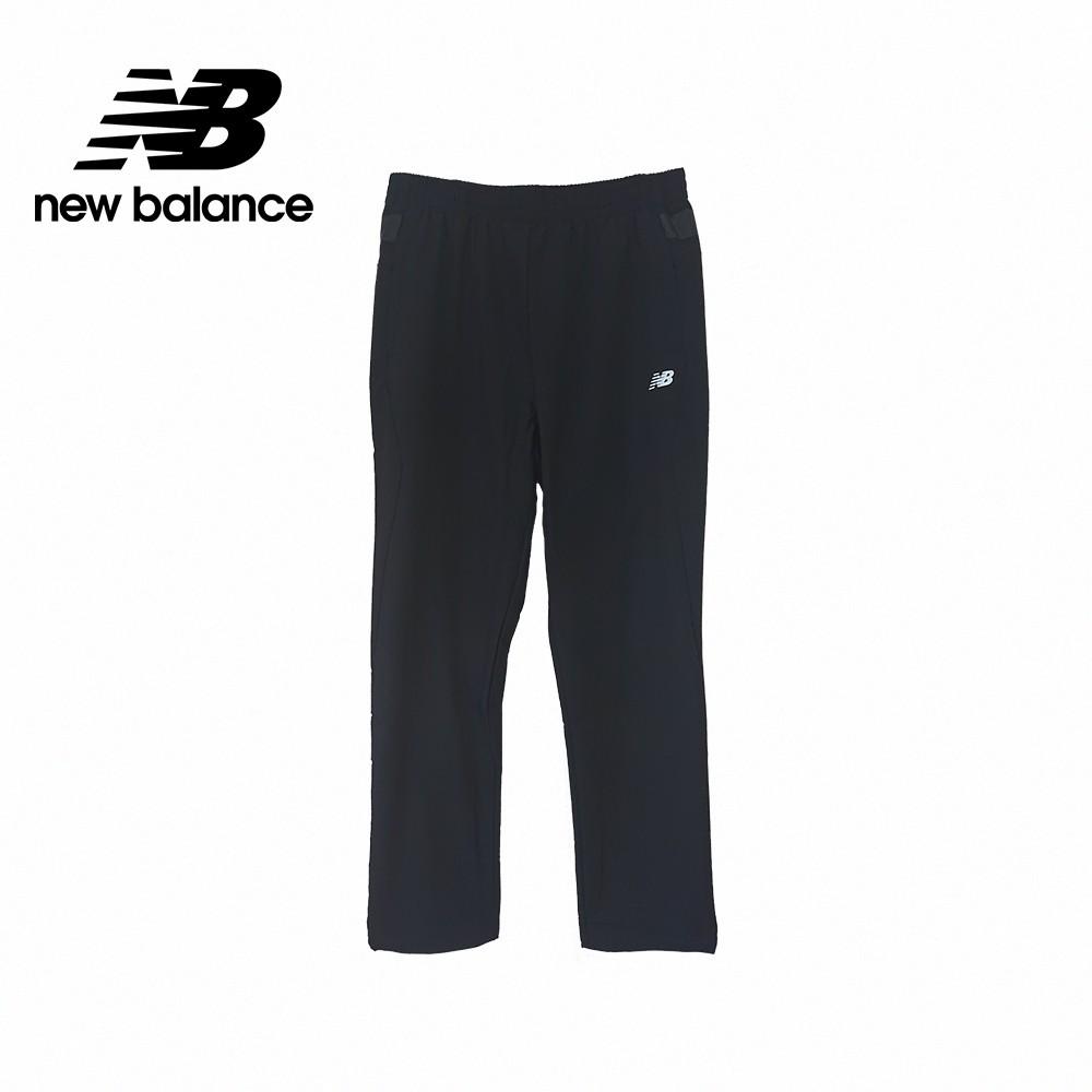 【New Balance】男Q彈性平織寬版長褲_男性_黑色_5872040289