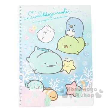 小禮堂 角落生物 左翻線圈橫線筆記本《B5.藍綠.游泳》手札.日記本