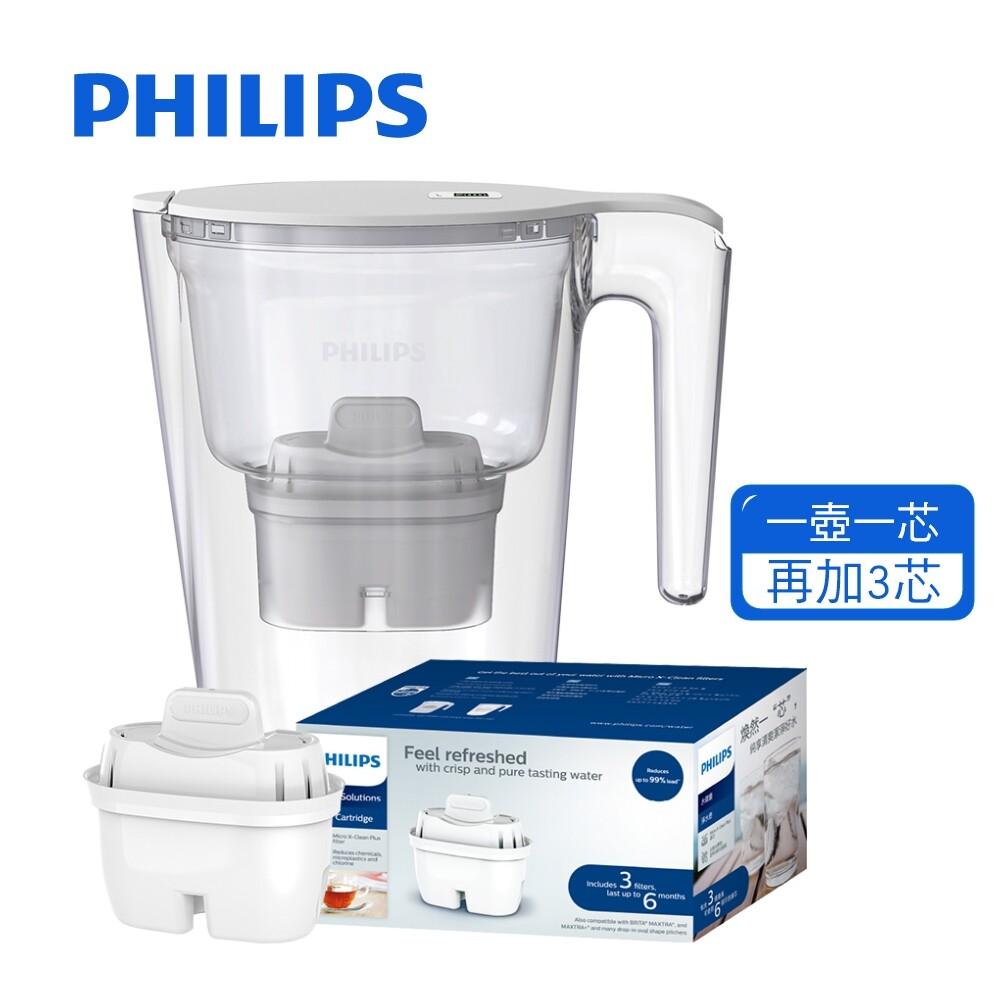 (1壺4芯) philips 飛利浦 awp2941 長效 四重超濾帶計時器 創新濾材 有效除鉛