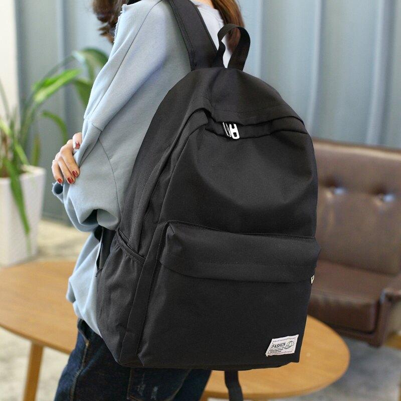 側背包女韓版青年電腦旅行校園初中高中學生書包男女時尚潮流背包