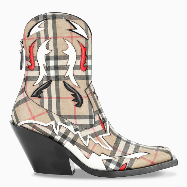 Burberry Vintage check western boots