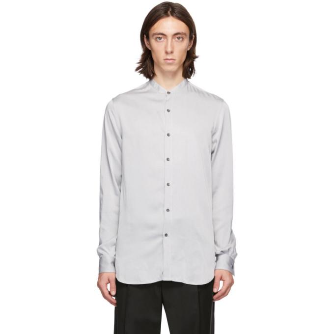 Giorgio Armani 灰色立领衬衫
