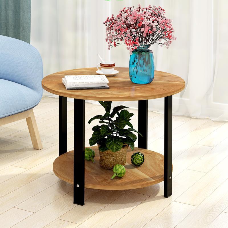 【熱賣中B3】茶幾簡約現代迷你小圓桌邊幾沙發邊柜角幾床頭桌子簡易北歐ins風