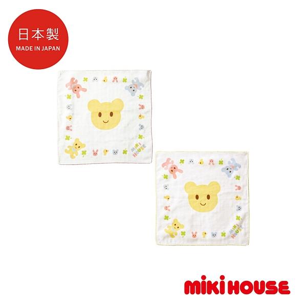 MIKI HOUSE BABY 日本製 可愛動物紗布手帕(2入)
