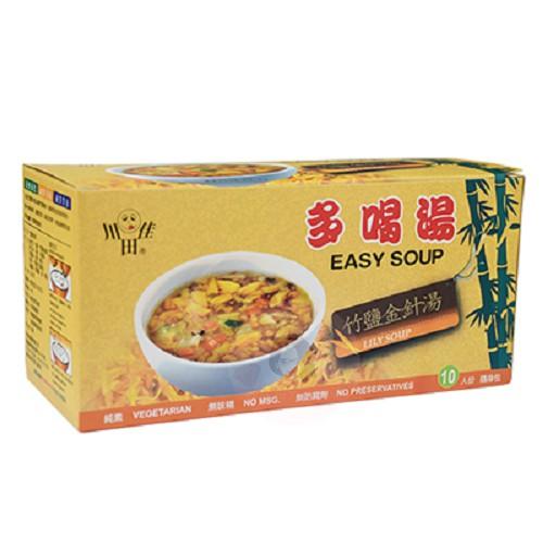 川田佳 多喝湯 竹鹽金針湯(純素) 10g*10包入/盒【醫妝世家】 喝湯 金針湯