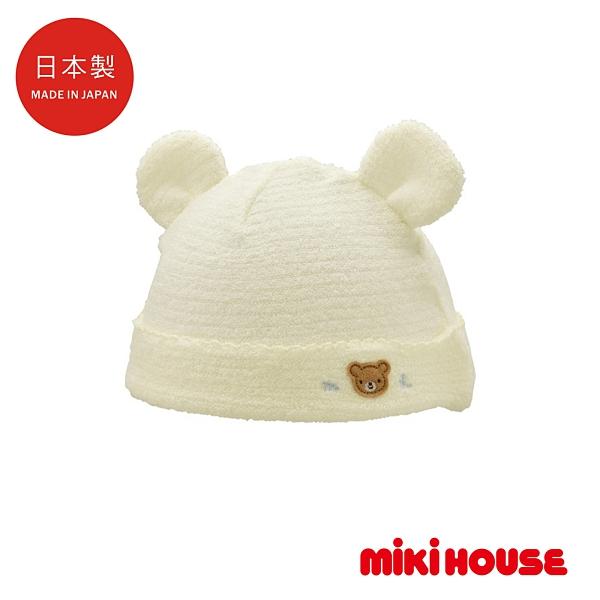 MIKI HOUSE BABY 日本製 可愛動物無撚紗嬰兒帽