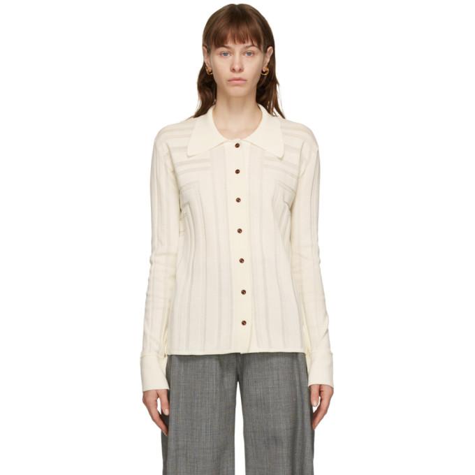 Eftychia 灰白色 Corner 长袖 Polo 衫