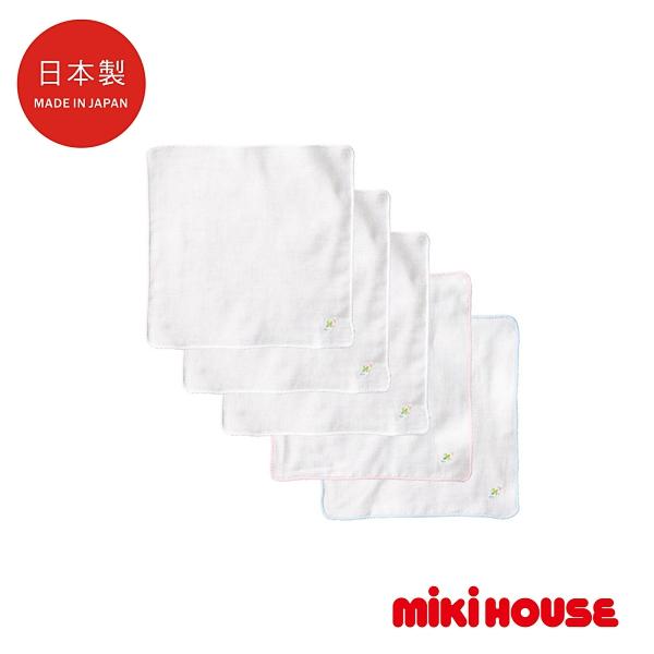 MIKI HOUSE BABY 日本製 四葉幸運草紗布手帕(5入)