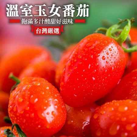 【果農直配】嘉義民雄嚴選玉女番茄X10盒(每盒600g±10%)