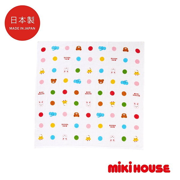 MIKI HOUSE BABY 日本製 豐富色彩柔軟洗澡雙層紗布浴巾