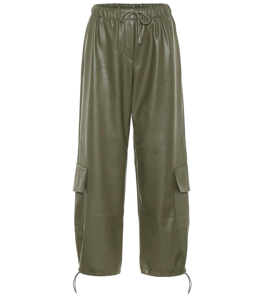 Yoyo faux leather cargo pants
