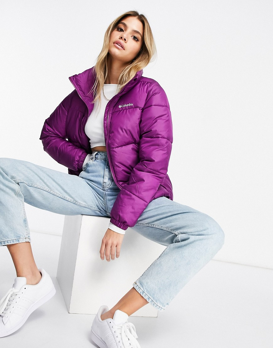 Columbia Puffect jacket in purple-Red