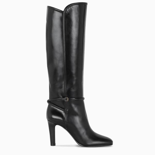 Saint Laurent Black leather Jane boots