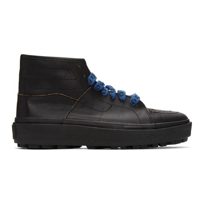 Vans 黑色 Taka Hayashi 联名 Sk8-Boot LX 高帮运动鞋