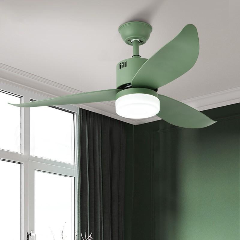 思思燈飾北歐簡約吊扇馬卡龍客廳臥室餐廳吊創意個性鐵藝風扇