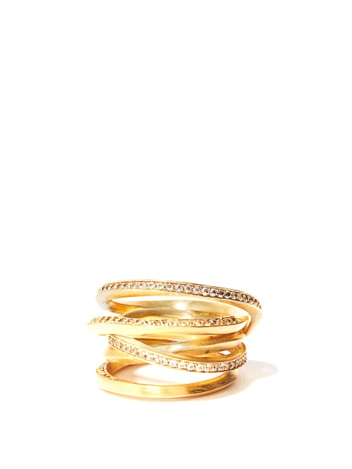 Completedworks - The Murmur Of False Idols 14kt Gold-vermeil Ring - Womens - Yellow Gold