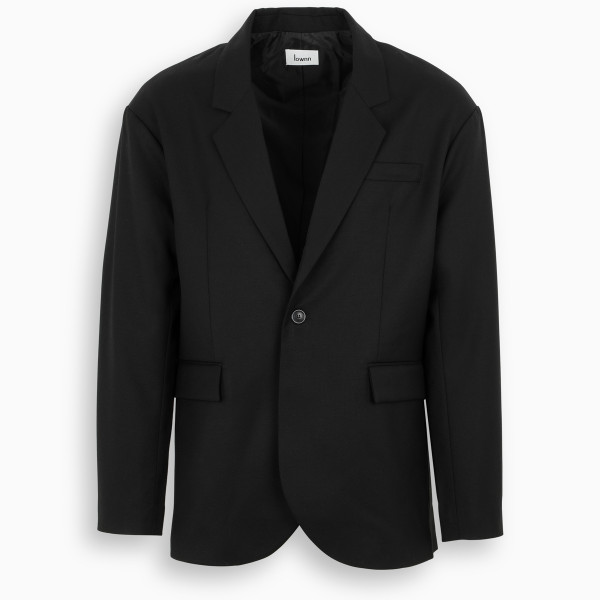 LOWNN Black single-breasted jacket