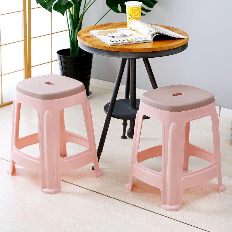 塑料椅 塑料凳子家用加厚客廳高凳板凳成人簡約椅子餐桌膠凳膠登子經濟型 JY403