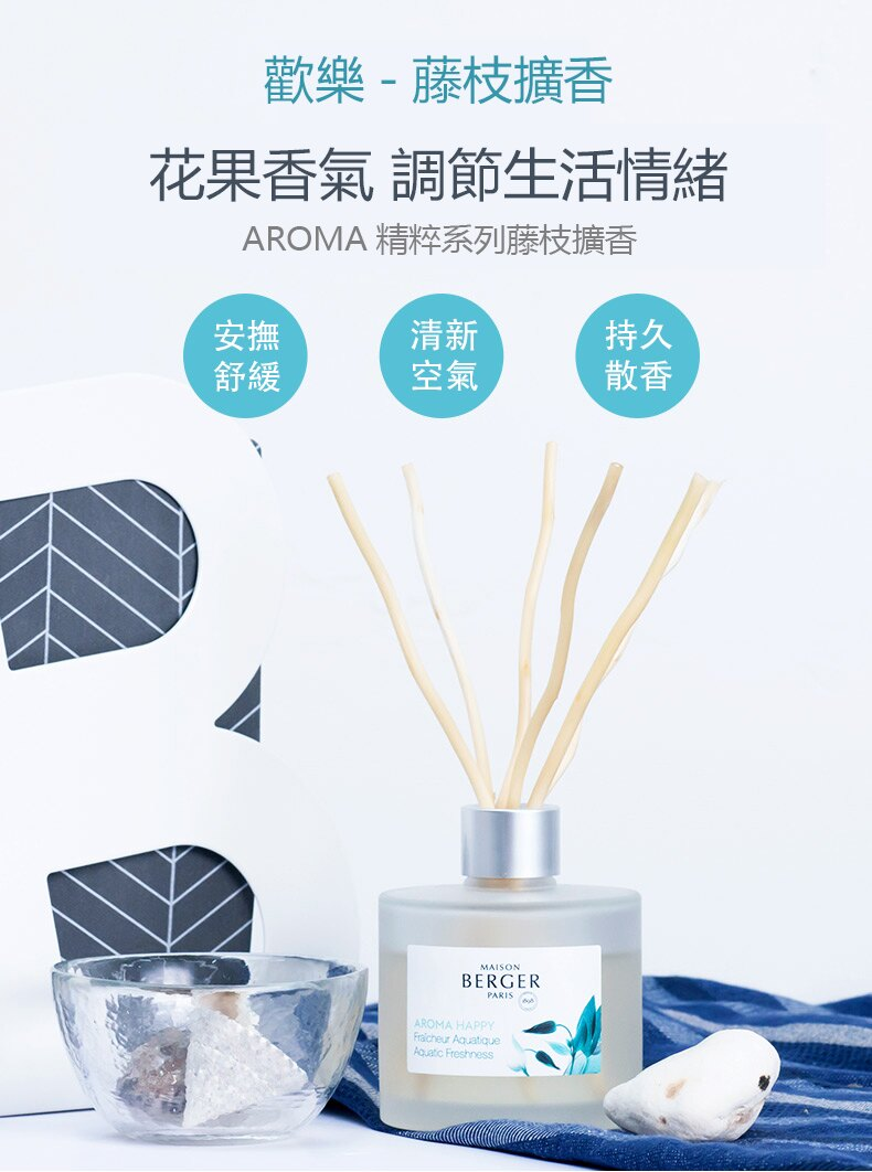 999清新歡樂-AMORA系列【柏格Berger】柳枝擴香套組180ml