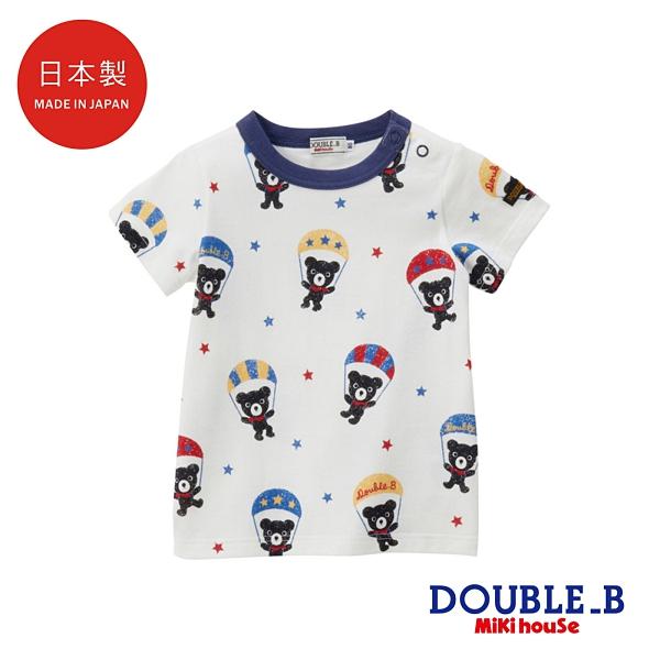 DOUBLE_B 日本製 DB熊降落傘短袖T恤