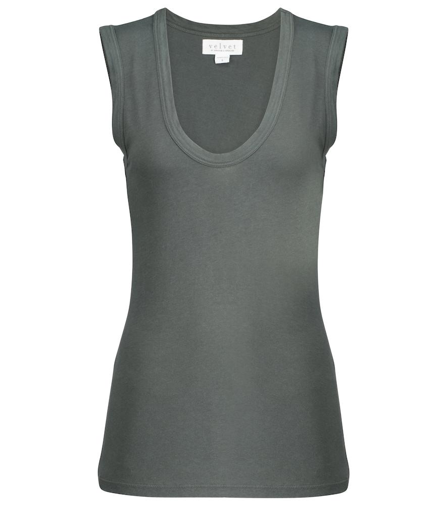Estina stretch-cotton tank top