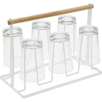 《VERSA》簡約手提式杯架(白)