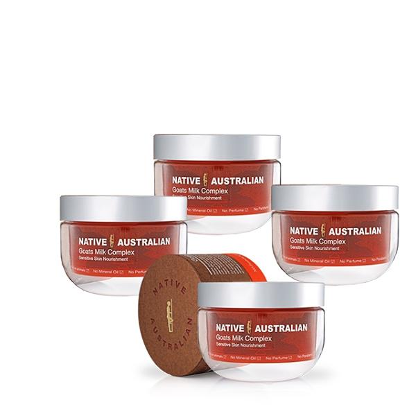 【澳洲Native】山羊奶曼努考蜂蜜滋養綜合霜(4 入組 150g/罐 深層養護系列)