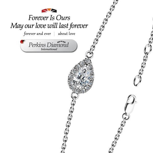 【南紡購物中心】GIA PERKINS 伯金仕 angel s tear系列 鑽石手鍊