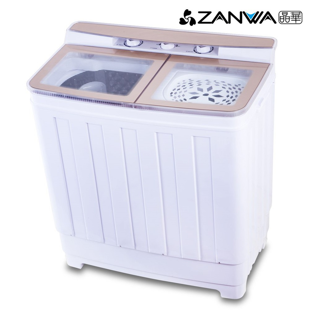 ZANWA 晶華 不鏽鋼洗脫雙槽洗衣機/脫水機/小洗衣機(ZW-460T) 廠商直送