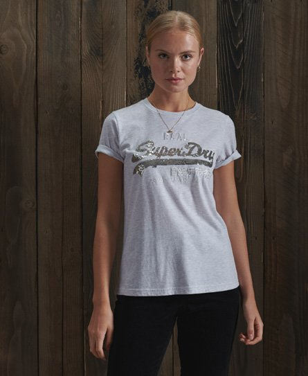 Superdry Vintage Logo Sequin T-Shirt