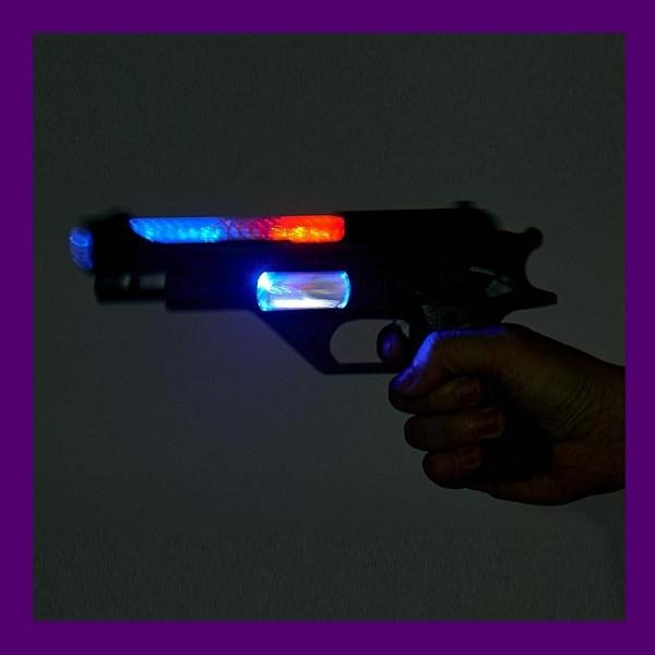 兒童聲光震動音樂發光男孩電動警槍寶寶生日禮物2-3/5-6歲玩具槍 雙十二全館免運