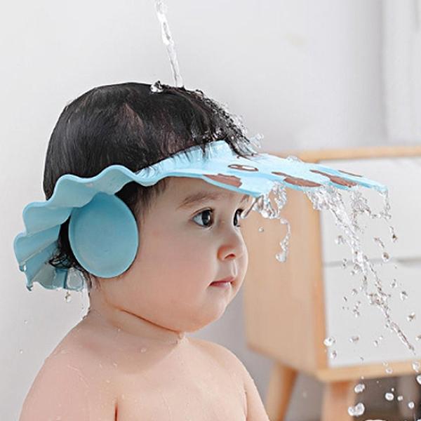 洗頭套 洗澡帽 頭罩 浴帽 兒童浴帽 防水 防水帽 防水浴帽 可調節護耳洗頭套【L149】生活家精品