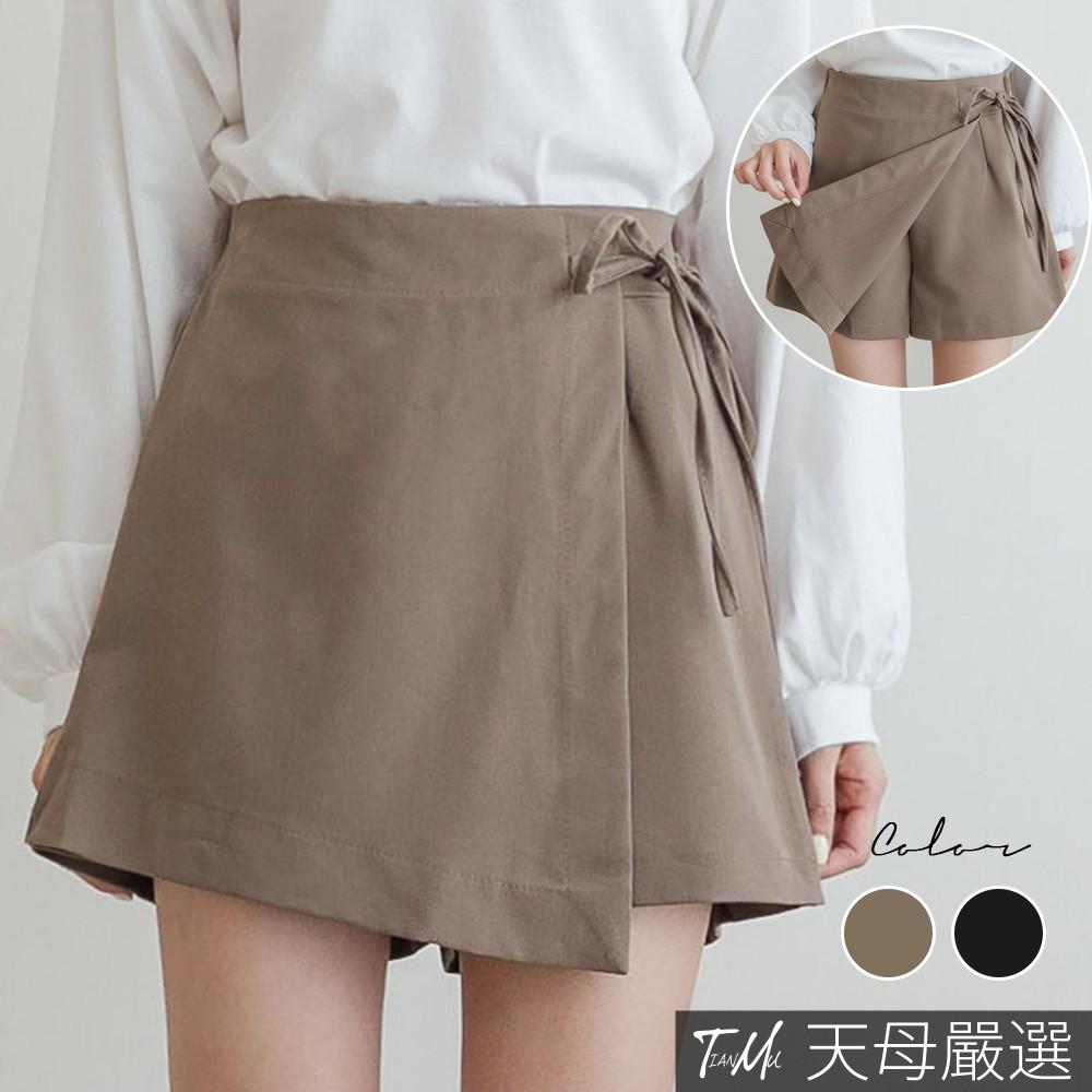 天母嚴選 一片裙綁帶短褲(共二色)