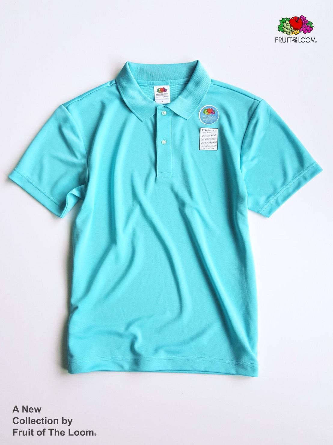 FRUIT OF THE LOOM 水果牌 - DYP9000 吸濕排汗 4.1OZ 短袖 POLO衫 (AB水藍)
