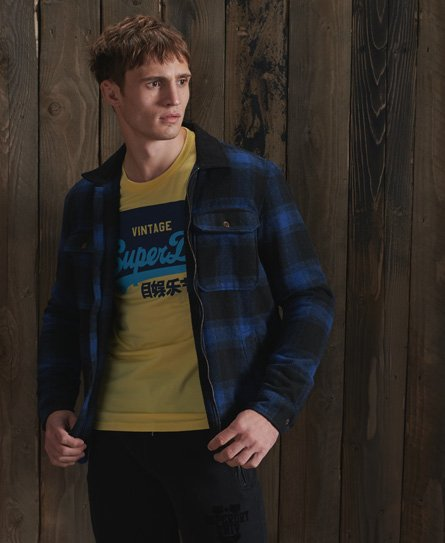 Superdry Hunting Zip Through Wool Overshirt
