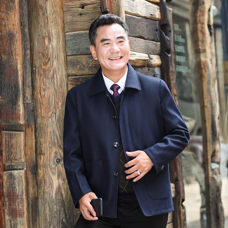 秋款經典休閒翻領夾克外套 雙色 素色 高品質 時尚商務 男裝 休閒 寬鬆 型男 紳士 爸爸 品牌現貨