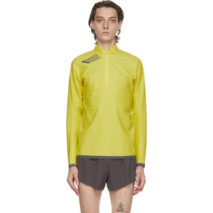 SOAR Running 黄色 Elite Windbreaker 半拉链套头衫