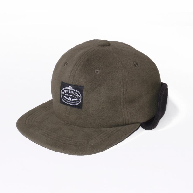 日本限定  六片式刷毛蓋耳帽 / 束繩遮耳帽 / 橄欖綠