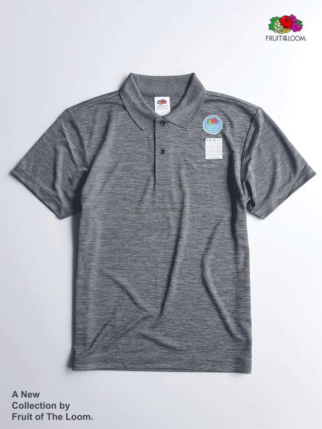 FRUIT OF THE LOOM 水果牌 - DYP9000 吸濕排汗 4.1OZ 短袖 POLO衫 (絲光黑HC)