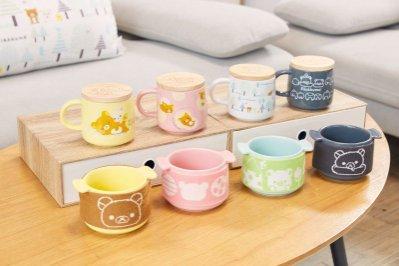 ☞衝評價☜ 7-11「拉拉熊暖心時光 專賣--陶瓷木蓋馬克杯--粉色跟白色