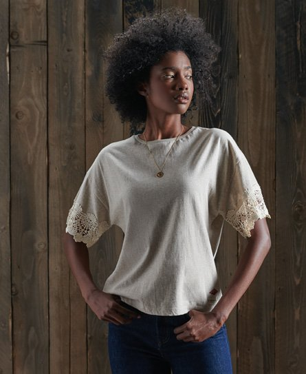 Superdry Crafted Folk Lace T-Shirt