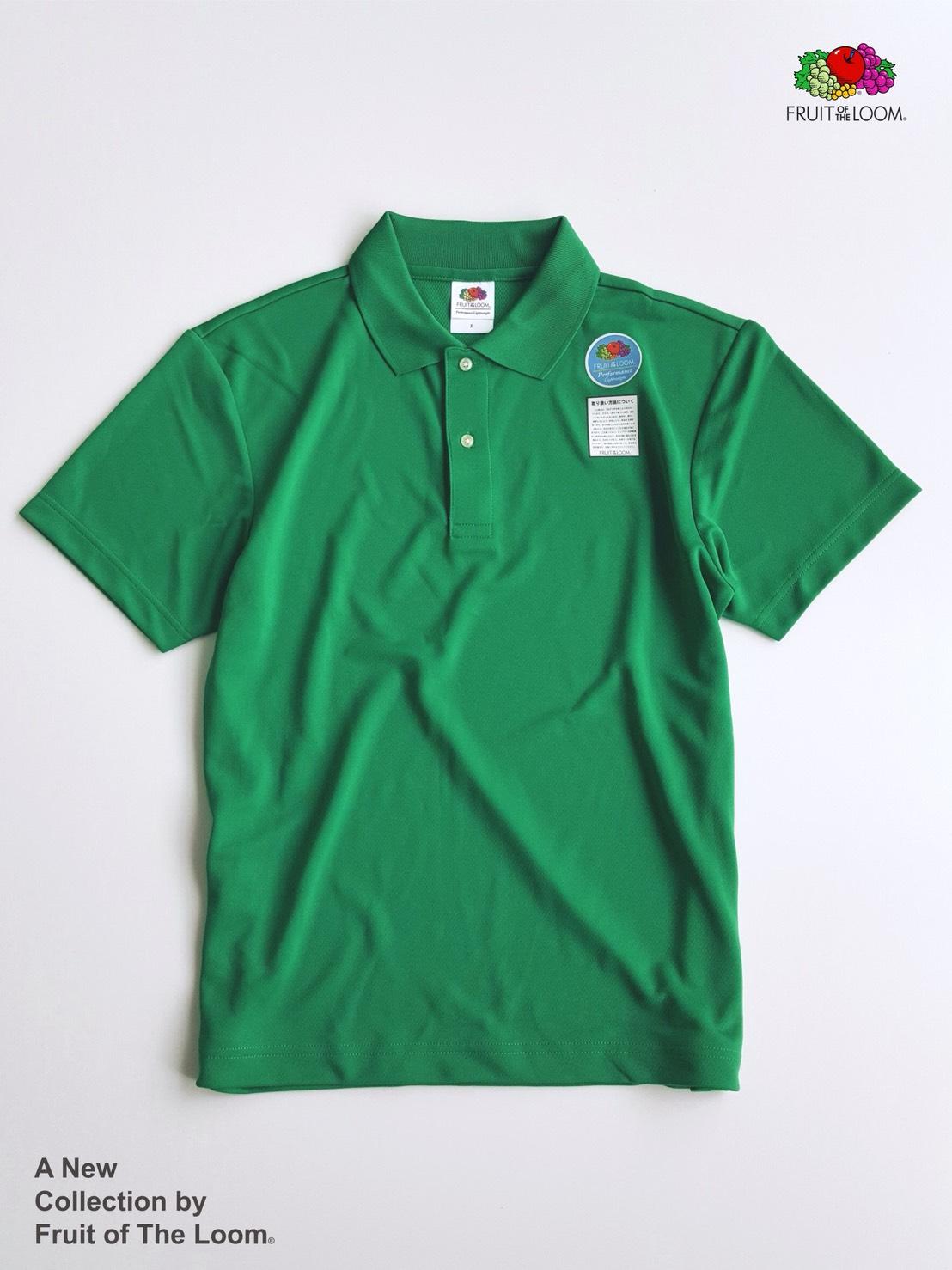 FRUIT OF THE LOOM 水果牌 - DYP9000 吸濕排汗 4.1OZ 短袖 POLO衫 (GR綠色)