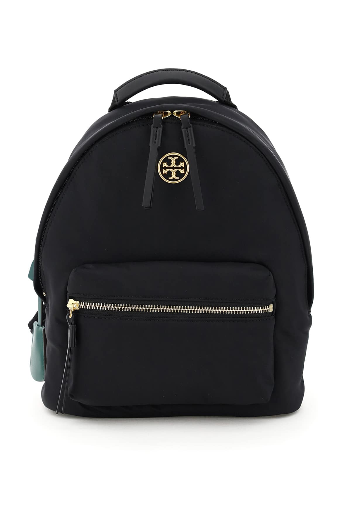 TORY BURCH SMALL PIPER BACKPACK OS Black Technical, Leather