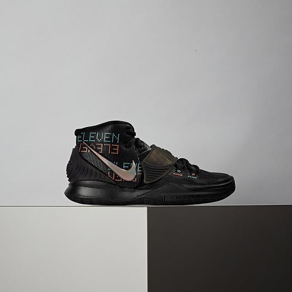 Nike Kyrie 6 (GS) 女大童 黑 避震 包覆 魔鬼氈 籃球鞋 BQ5599-006